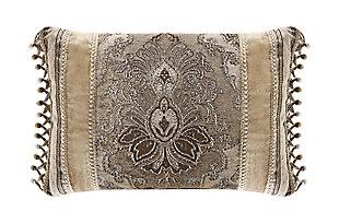 J. Queen New York Bradshaw BoudoirDecorative Throw Pillow, Natural, large