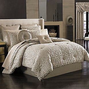 J. Queen New York Astoria Queen 4 Piece Comforter Set, Sand, large
