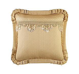 "J. Queen New York Napoleon Gold 20"" SquareDecorative Throw Pillow, , rollover"