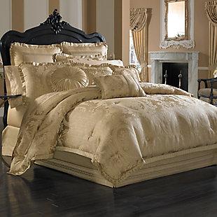 J. Queen New York Napoleon Gold Queen 4 Piece Comforter Set, Gold, large