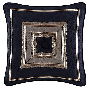 "J. Queen New York Bradshaw Black 18"" SquareDecorative Throw Pillow, , large"