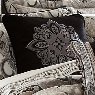 """J. Queen New York Guiliana 18"""" Square EmbellishedDecorative Throw Pillow, , rollover"""