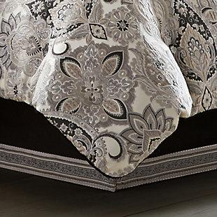 J. Queen New York Guiliana Queen 4 Piece Comforter Set, Silver, rollover