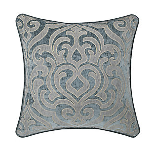 """J. Queen New York Sicily Teal 20"""" SquareDecorative Throw Pillow, Teal, large"""