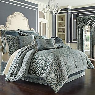 J. Queen New York Sicily Teal Full 4 Piece Comforter Set, Teal, large
