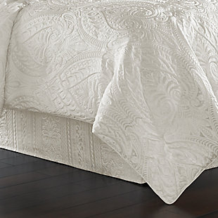 J. Queen New York Bianco Queen 4 Piece Comforter Set, White, rollover