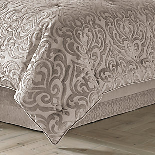 J.Queen New York Sicily Pearl Full 4 Piece Comforter Set, Pearl, rollover
