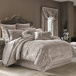 J.Queen New York Sicily Pearl Full 4 Piece Comforter Set, Pearl, large