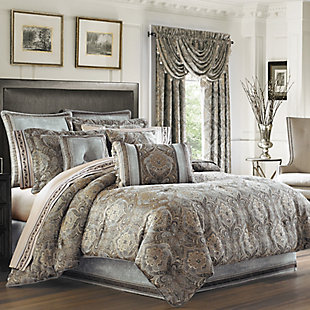 J. Queen New York Provence Queen 4 Piece Comforter Set, Stone, large