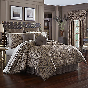 J. Queen New York Astoria Mink Queen 4 Piece Comforter Set, Mink, large