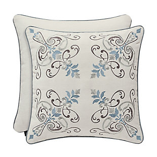 """J. Queen New York Giovani 18"""" Square EmbellishedDecorative Throw Pillow, , large"""
