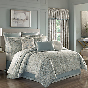 J. Queen New York Giovani Queen 4 Piece Comforter Set, Spa, large