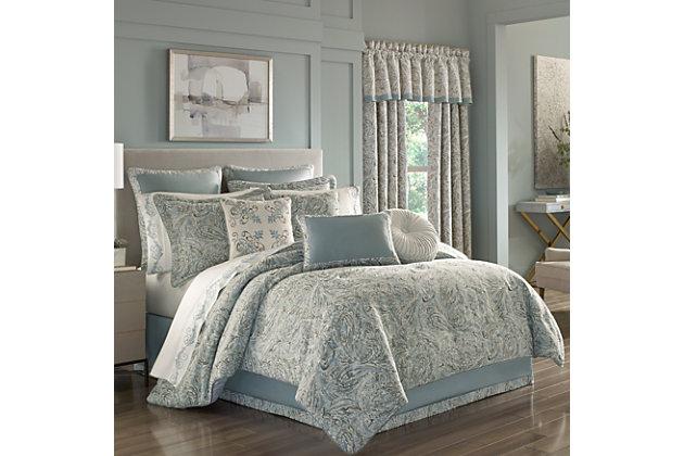J. Queen New York Giovani Queen 4 Piece Comforter Set, Spa, large