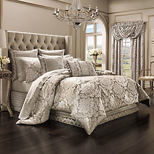 J. Queen New York Bel Air Sand Queen 4 Piece Comforter Set, Sand, large