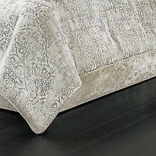 J. Queen New York Dream Natural Full 4 Piece Comforter Set, Natural, rollover