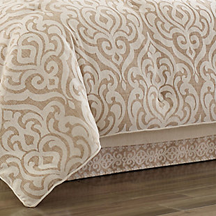 J. Queen New York Milano Queen 4 Piece Comforter Set, Sand, rollover