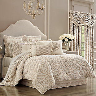 J. Queen New York Milano Queen 4 Piece Comforter Set, Sand, large