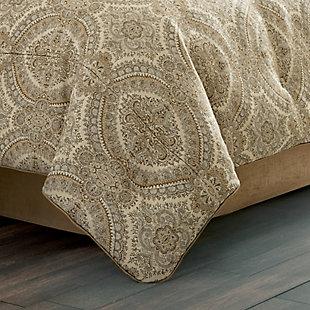 J. Queen New York Sardinia Queen 4 Piece Comforter Set, Gold, rollover
