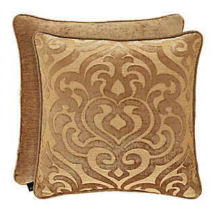 """J. Queen New York Sicily Gold 20"""" SquareDecorative Throw Pillow, Gold, large"""