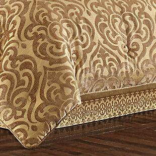 J. Queen New York Sicily Gold Queen 4 Piece Comforter Set, Gold, rollover