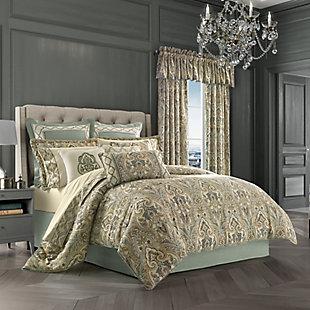 J. Queen New York Vienna Queen 4 Piece Comforter Set, Spa, large