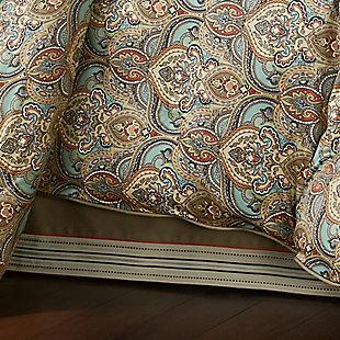 J. Queen New York Victoria Turquoise Queen 4 Piece Comforter Set, Turquoise, rollover
