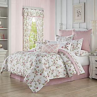 Royal Court Rosemary Full 4 Piece Comforter Set, Rose, large