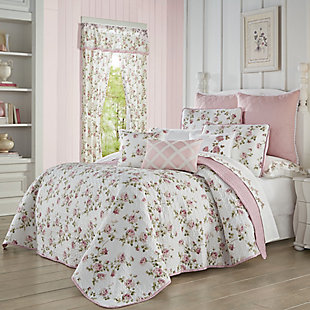 Royal Court Rosemary Twin 2Pc. Quilt Set, Rose, large
