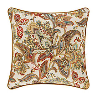 "Five Queens Court August 18"" SquareDecorative Throw Pillow, , large"
