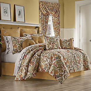 Five Queens Court August Queen 4 Piece Comforter Set, Multi, large