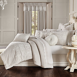 J. Queen New York Lauralynn Full 4 Piece Comforter Set, Beige, large