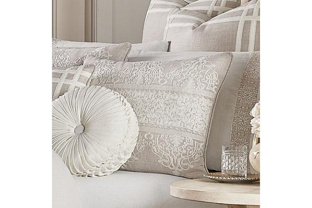 J. Queen New York Lauralynn Full 4 Piece Comforter Set, Beige, large