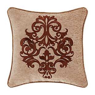 """J. Queen New York Luciana Beige 18"""" Square EmbellishedDecorative Throw Pillow, , large"""