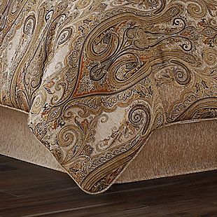 J. Queen New York Luciana Beige Queen 4 Piece Comforter Set, Beige, rollover