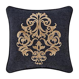 "J. Queen New York Luciana Indigo 18"" Square EmbellishedDecorative Throw Pillow, Indigo, large"