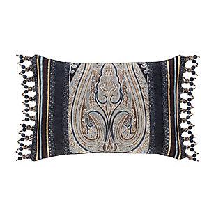 J. Queen New York Luciana Indigo BoudoirDecorative Throw Pillow, , large
