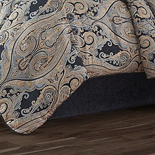 J. Queen New York Luciana Indigo Queen 4 Piece Comforter Set, Indigo, rollover