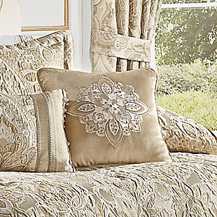 """J. Queen New York Sandstone 18"""" Square EmbellishedDecorative Throw Pillow, , rollover"""