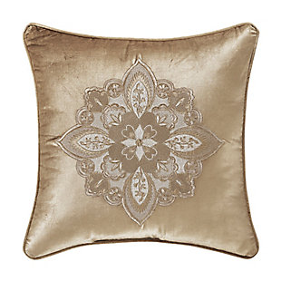 """J. Queen New York Sandstone 18"""" Square EmbellishedDecorative Throw Pillow, , large"""