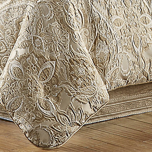 J. Queen New York Sandstone Queen 4 Piece Comforter Set, Beige, rollover