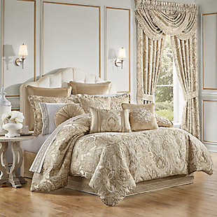 J. Queen New York Sandstone Queen 4 Piece Comforter Set, Beige, large