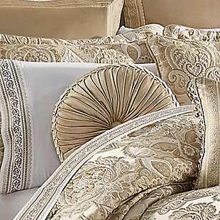 J. Queen New York Sandstone Tufted RoundDecorative Throw Pillow, , rollover