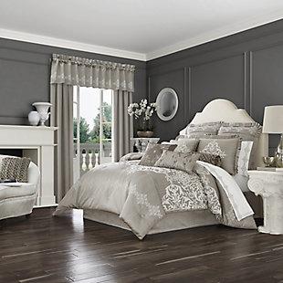J. Queen New York Crestview Queen 4 Piece Comforter Set, Silver, large