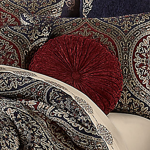 J. Queen New York Taormina Tufted RoundDecorative Throw Pillow, , rollover