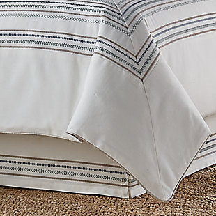 J. Queen New York Waterbury Spa Queen 4 Piece Comforter Set, Spa, rollover