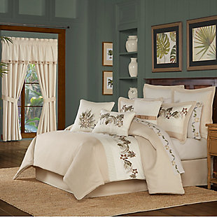 J. Queen New York Palm Beach Queen 4 Piece Comforter Set, Sand, large