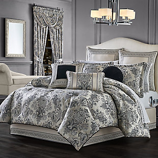 J. Queen New York Annette Queen 4 Piece Comforter Set, Black, large