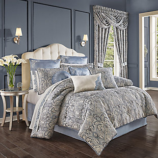 J. Queen New York Alexis Queen 4 Piece Comforter Set, Powder Blue, large