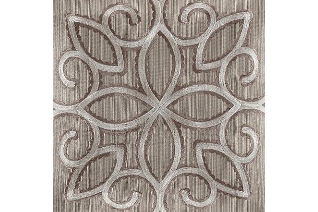 J. Queen New York Deco Queen 4 Piece Comforter Set, Silver, large
