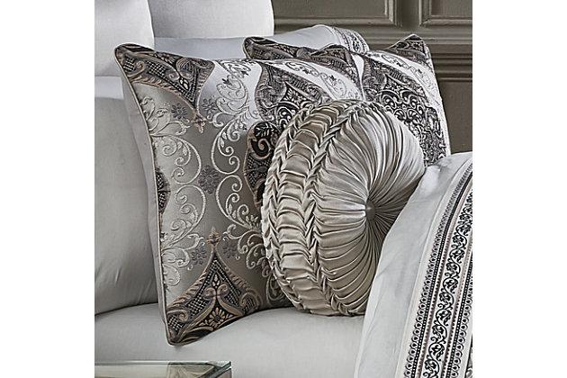 J. Queen New York Desiree Queen 4 Piece Comforter Set, Silver, large